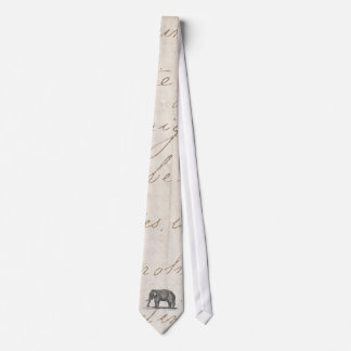 Vintage 1800s Elephant Illustration - Elephants Neck Tie