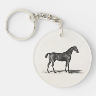 Vintage 1800s English Race Horse - Racing Horses Keychain