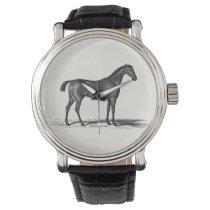 Vintage 1800s English Race Horse - Racing Horses Wrist Watch