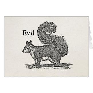 Vintage 1800s Evil Squirrel Illustration Card