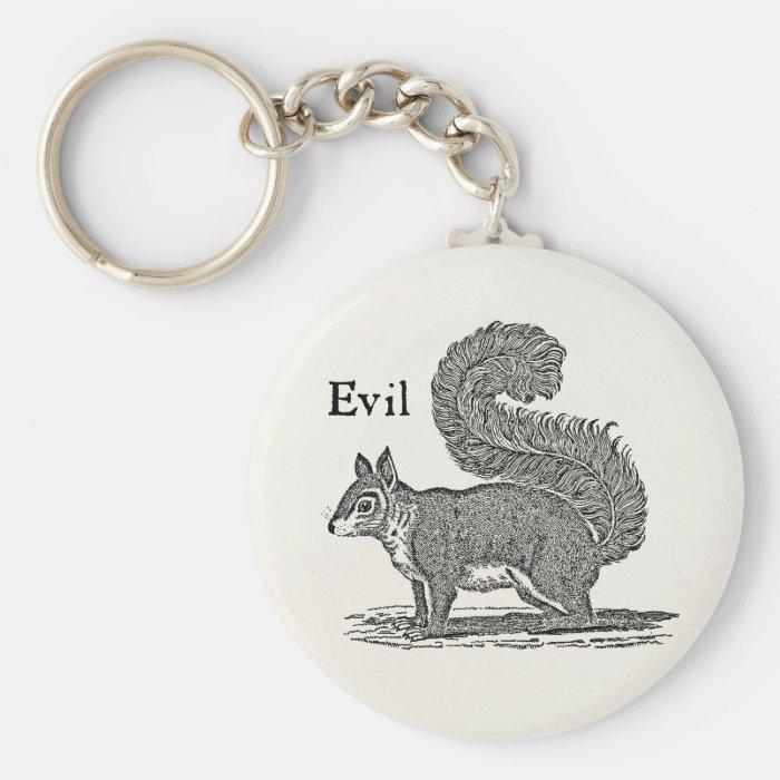 Vintage 1800s Evil Squirrel Illustration Keychain