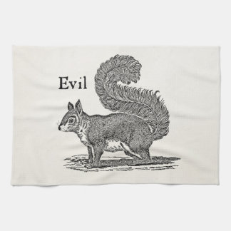 Vintage 1800s Evil Squirrel Illustration Towels