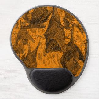 Vintage 1800s Flying Fox Bat Retro Template Orange Gel Mouse Pad