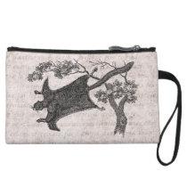 Vintage 1800s Flying Squirrel - Sugar Glider Wristlet Wallet