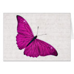 Vintage 1800s Fuchsia Hot Pink Butterfly Template Cards