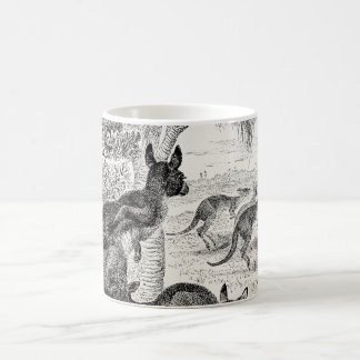 Vintage 1800s Giant Kangaroos Australian Kangaroo Classic White Coffee Mug