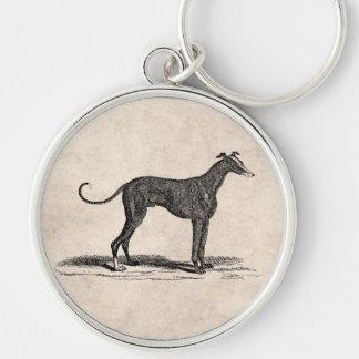 Vintage 1800s Greyhound Dog Illustration - Dogs Keychain