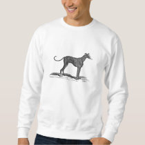 Vintage 1800s Greyhound Dog Illustration - Dogs Sweatshirt
