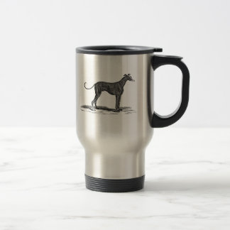 Vintage 1800s Greyhound Dog Illustration - Dogs Travel Mug