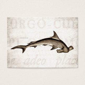 Vintage 1800s Hammerhead Shark Old Hammer Head Business Card