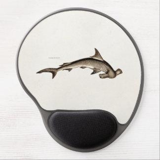 Vintage 1800s Hammerhead Shark Old Hammer Head Gel Mouse Pad