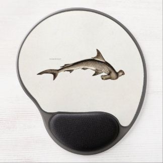 Vintage 1800s Hammerhead Shark Old Hammer Head Gel Mouse Pads
