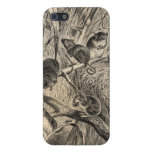 Vintage 1800s Harvest Mouse Retro Mice Template iPhone 5 Case