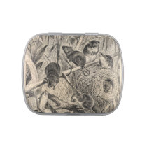 Vintage 1800s Harvest Mouse Retro Mice Template Jelly Belly Candy Tin
