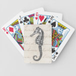 Vintage 1800s Hawaiian Sea Horse Illustration Bicycle Playing Cards