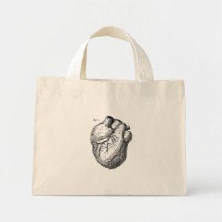 Vintage 1800s Heart Retro Cardiac Anatomy Hearts Mini Tote Bag