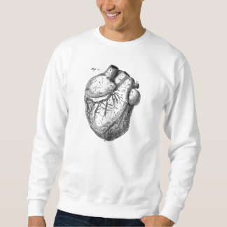Vintage 1800s Heart Retro Cardiac Anatomy Hearts Sweatshirt