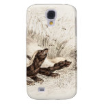 Vintage 1800s Honey Badger Bee Hive Template Retro Galaxy S4 Cover