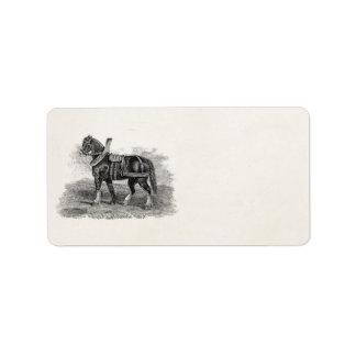 Vintage 1800s Horse Agriculture Illustration Horse Label