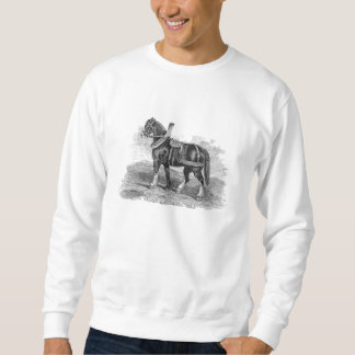 Vintage 1800s Horse Cart Clydesdale Horses Sweatshirt