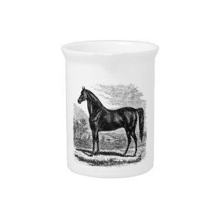 Vintage 1800s Horse - Morgan Equestrian Template Beverage Pitcher