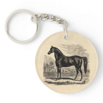 Vintage 1800s Horse - Morgan Equestrian Template Keychain