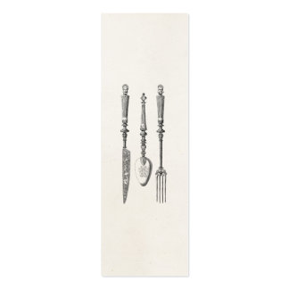 Vintage 1800s Knife Fork Spoon Knives Old Cutlery Business Cards