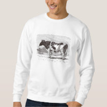 Vintage 1800s Large Dutch Cow Retro Cows Template Sweatshirt