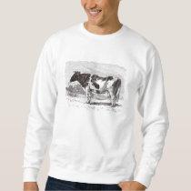 Vintage 1800s Large Dutch Cow Retro Cows Template Sweatshirt