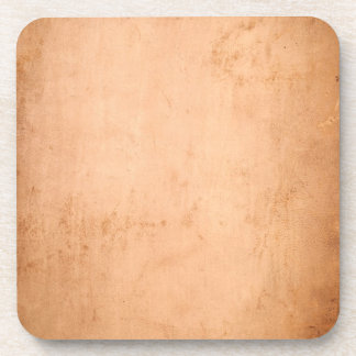 Vintage 1800s Leather Old Tan Texture Background Coaster
