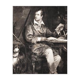 Vintage 1800s Lord Byron Portrait Victorian Poet Canvas Print
