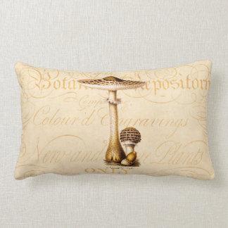 Vintage 1800s Mushroom Agricus Mushrooms Template Pillow