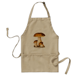 Vintage 1800s Mushroom Edible Mushrooms Template Adult Apron