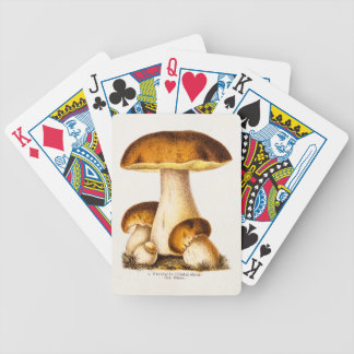 Vintage 1800s Mushroom Edible Mushrooms Template Bicycle Playing Cards