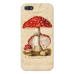 Vintage 1800s Mushroom Red Mushrooms Template iPhone 5 Cover
