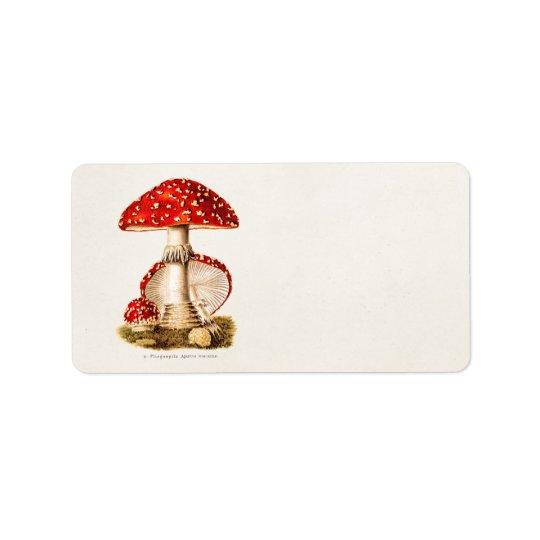 vintage 1800s mushroom red mushrooms template label zazzle com