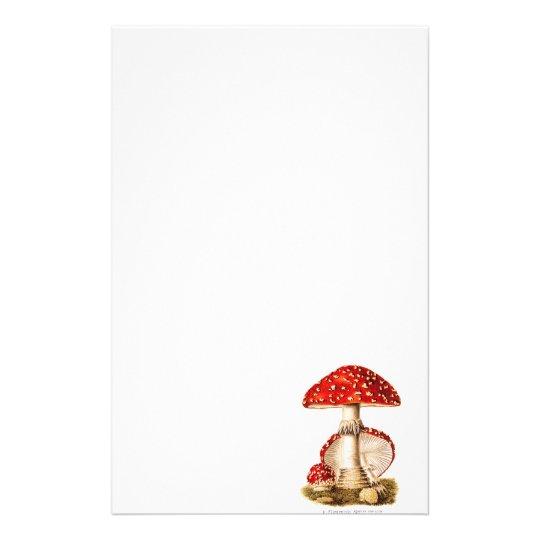vintage 1800s mushroom red mushrooms template stationery zazzle com