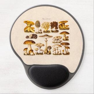 Vintage 1800s Mushroom Variety  Mushrooms Template Gel Mouse Pad