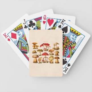 Vintage 1800s Mushroom Variety Red Mushrooms Bicycle Playing Cards