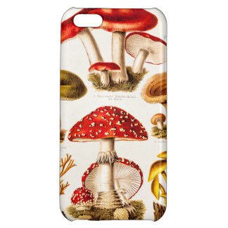Vintage 1800s Mushroom Variety Template Cover For iPhone 5C