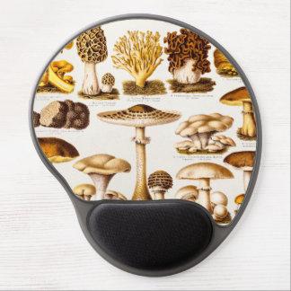 Vintage 1800s Mushroom Variety Template Gel Mousepad
