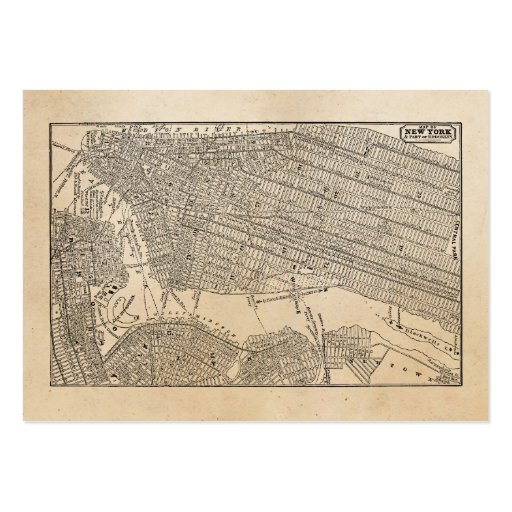 Vintage 1800s New York City Brooklyn Map NYC Maps Business