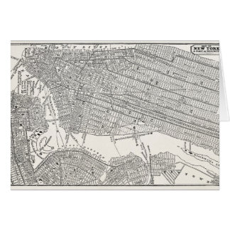 Vintage 1800s New York City Brooklyn Map NYC Maps Card