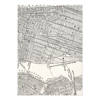 Vintage 1800s New York City Brooklyn Map NYC Maps Custom Invitation
