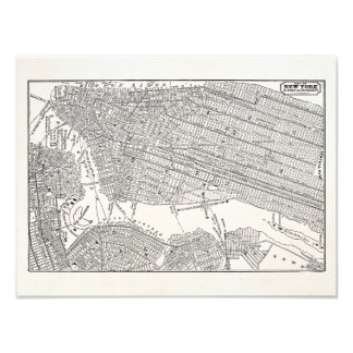 Vintage 1800s New York City Brooklyn Map NYC Maps Photo Print