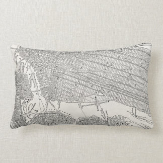 Vintage 1800s New York City Brooklyn Map NYC Maps Pillow