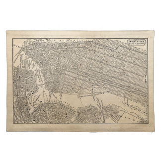 Vintage 1800s New York City Brooklyn Map NYC Maps Placemat