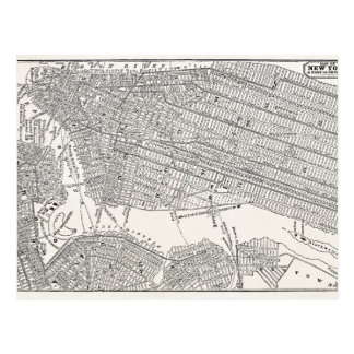 Vintage 1800s New York City Brooklyn Map NYC Maps Postcard