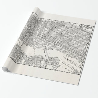 Vintage 1800s New York City Brooklyn Map NYC Maps Gift Wrapping Paper