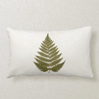 Vintage 1800s Olive Green Fern Leaf Template Pillow